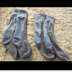 Smartwool Blue & Purple Wool Hiking Outdoor Socks